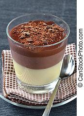triplo, mousse, cioccolato