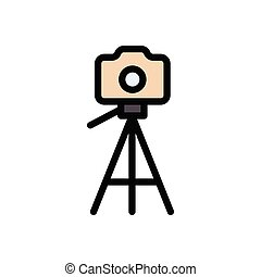 tripod  flat color icon