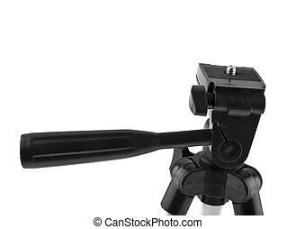 tripod isolated on white background closeup