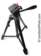 Tripod on white background
