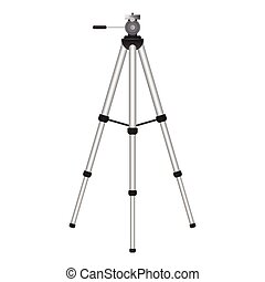 Tripod vector illustration isolated on white background