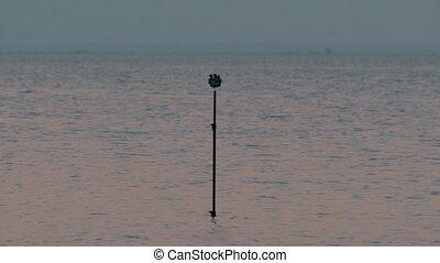 Tripod with cameras shooting 360 degree sea scene - Tripod...