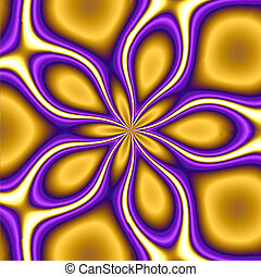 Trippy Yellow Star - trippy background