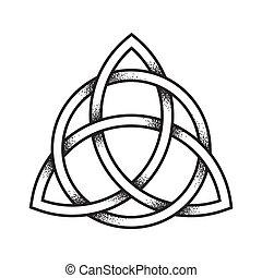 Triquetra ancient pagan symbol - Triquetra or Trinity knot....