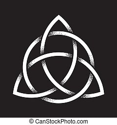 Triquetra dot work - Triquetra or Trinity knot. Hand drawn...