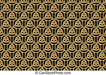 Triquetra symbol , abstract backgro - Triquetra symbol...