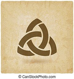 triquetra symbol old background. vector illustration - eps...