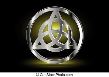 Triquetra symbol , Vector illustration ,symbol of strength,...