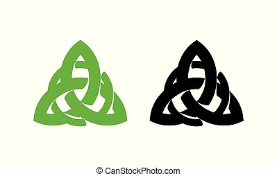 Triquetra wiccan pagan symbol from Charmed isolated on white...