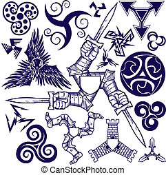Triskelion Collection - A clip art collection of triskelion...