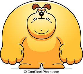triste, chien, dessin animé