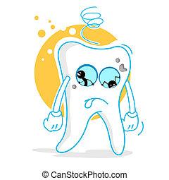 triste, dientes
