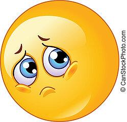 triste, emoticon