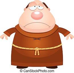 triste, monje, caricatura