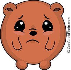 triste, taddy, bear.