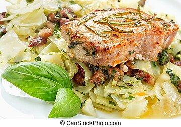 tritare, carne di maiale, delizioso