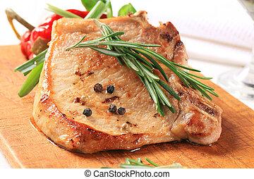 tritare, carne di maiale, rosmarino
