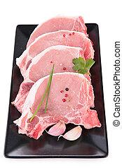 tritare, crudo, carne di maiale