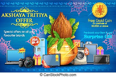 tritiya, bevordering, akshaya, verkoop, viering