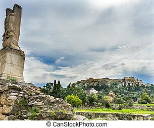 triton, 半分, fish, 人, 古代, アゴラ, アクロポリス, アテネ, ギリシャ