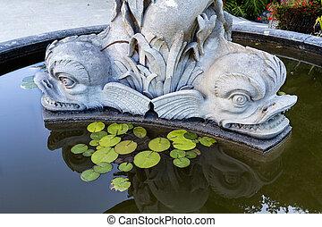 triton, 噴水, monserrate, 宮殿, sintra