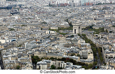 triumfalny obłąk, w, francja paryża