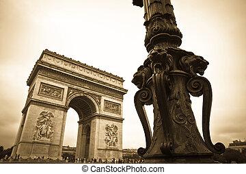 triumfalny obłąk, w, paryż