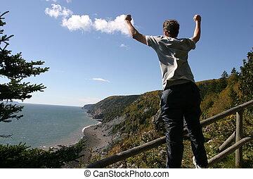 Triumph - Teen Triumph, Climbing in Cape Chignecto Park,...