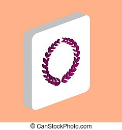 Triumph Wreath Simple vector icon. Illustration symbol design template for web mobile UI element. Perfect color isometric pictogram on 3d white square. Triumph Wreath icons for business project.