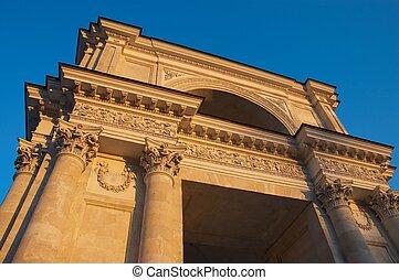 Triumphal arc in Chisinau at sunset - Triumphal arc in...