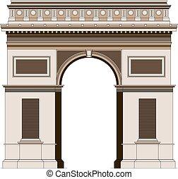 Triumphal arc in Paris, France 2