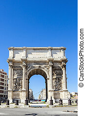 Triumphal arc Porte also known as Porte Royale in Marseille...