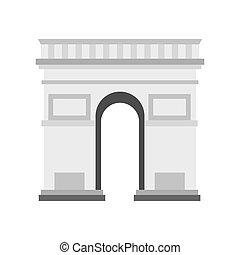 Triumphal Arch icon, flat style