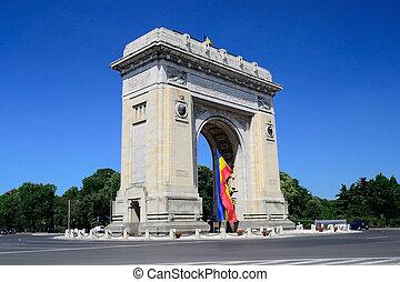 Triumphal Arch In Bucharest, Romania