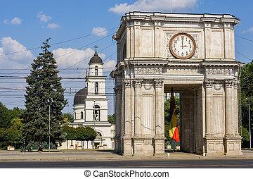 Triumphal Arch in Chisinau, Moldova - Triumphal Arch at...