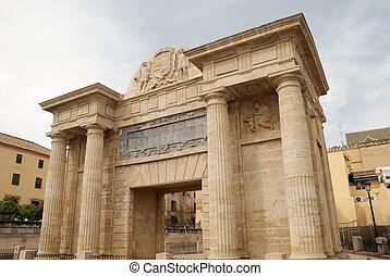 Triumphal arch in Cordoba, Spain