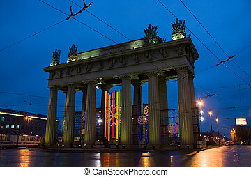 Triumphal arch in St.-Petersburg