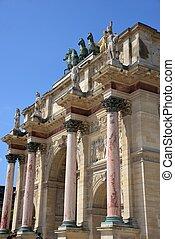 Triumphal arch in the Tuileries in Paris