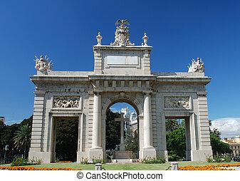 Triumphal Arch in Valencia, Spain