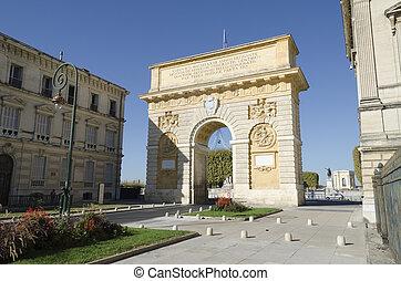 triumphal arch, Montpellier, France - triumphal arch,...