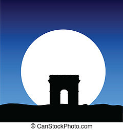 triumphal arch on the moon