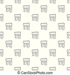 Triumphal arch pattern vector seamless