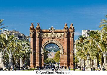 Triumphal arch in Barcelona