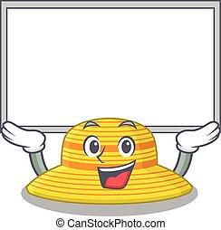 triunfe, sombrero, tabla, verano, alzar, caricatura, carácter