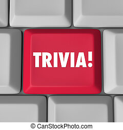 Trivia Computer Keyboard Key Button Fun Pop Culture Knowledge Ga