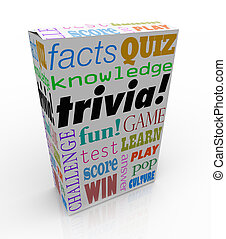 Trivia Game Box Package Fun Questions Answers Knowledge Quiz