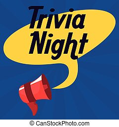 trivia night design - trivia night speaker speech bubble ...