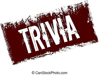 TRIVIA on red retro distressed background.