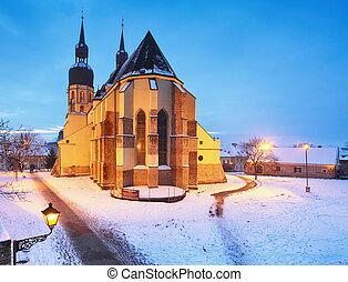 Trnava church, Slovakia - Saint Nicolas at winter
