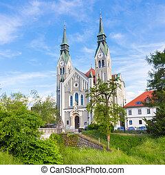 trnovo, église, dans, ljubljana, slovénie